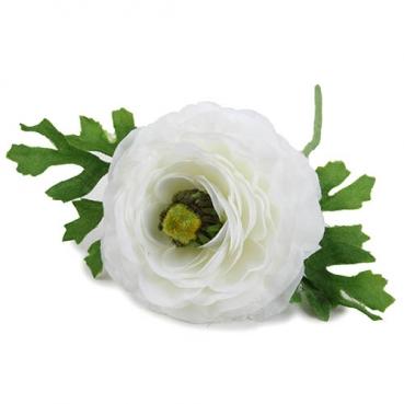 Kunstblume Ranunkel in Weiß, 26 cm