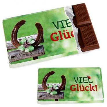 Gastgeschenk Schokolade -Viel Glück!-