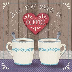 20er Pack Servietten -All you need is Coffee- 33 x 33 cm
