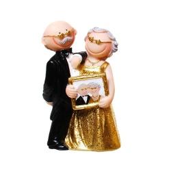 Jubiläumspaar Goldhochzeit, Hochzeitsbild, 10 cm