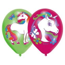 6er Pack Luftballons Einhorn