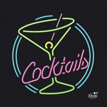 Duni Zelltuch Cocktail-Servietten Bar, 24 x 24 cm