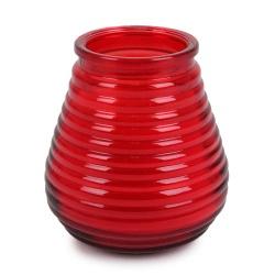 Outdoor Duft-Kerzenglas Citronella, Garten Windlicht in Rot, 10 cm
