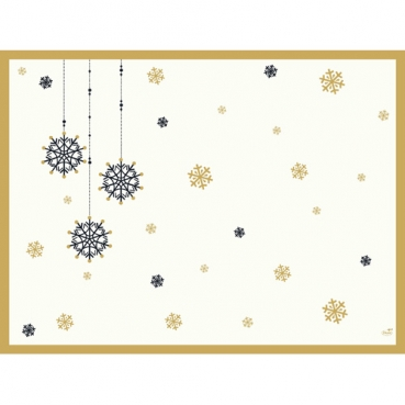 Duni Dunicel Tischsets Snowflake Necklace White, 30 x 40 cm