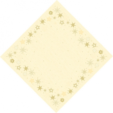 Duni Dunisilk Mitteldecken Star Stories Cream, abwischbar