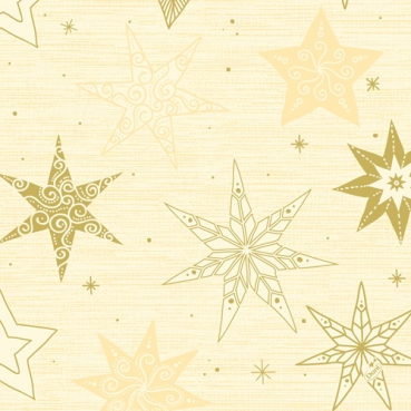 Duni Klassik Servietten Star Stories Cream, 40 x 40 cm