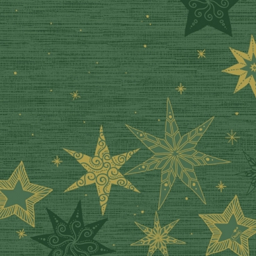 Duni Dunisoft Servietten Star Stories Green, 40 x 40 cm