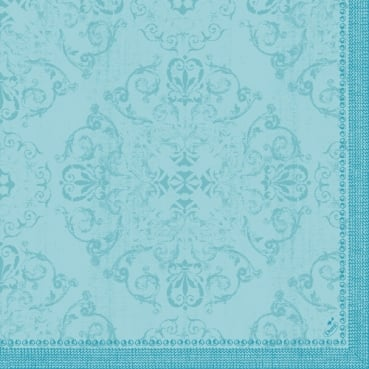 Duni Dunilin Servietten Opulent Spring in Mint Blue, 40 x 40 cm
