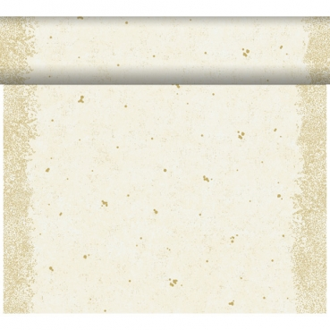 24 Meter Rolle Duni Dunicel Tischläufer Celebrate White