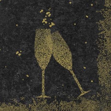 Duni Dunisoft Servietten Celebrate Black, 40 x 40 cm