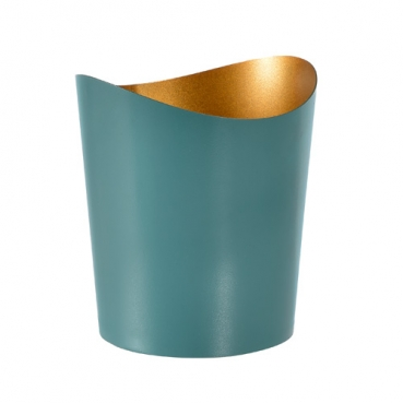 Duni Kerzenhalter Ripple aus Metall in Ocean Teal, 80 mm