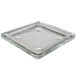 Glas Kerzenteller quadratisch
