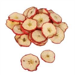 100 gr. getrocknete Deko Apfelscheiben mit roter Schale