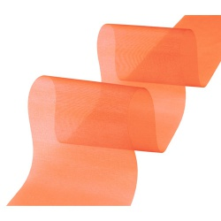 25 Meter Organza Tischband in Orange, 70 mm