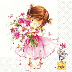 20er Pack Servietten Little Princess, 33 x 33 cm