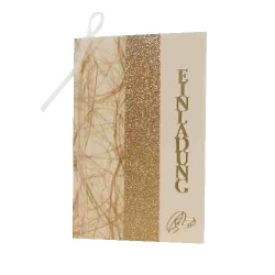 Einladungskarte Goldene Hochzeit In Creme/Gold