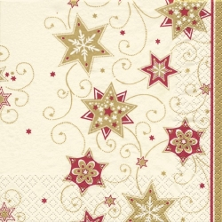 20er Pack Servietten Stars and Swirls gold 33 x 33 cm