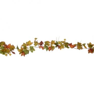 1,8 Meter Ahornblätter, Weinranken Girlande in Grün, 10 cm