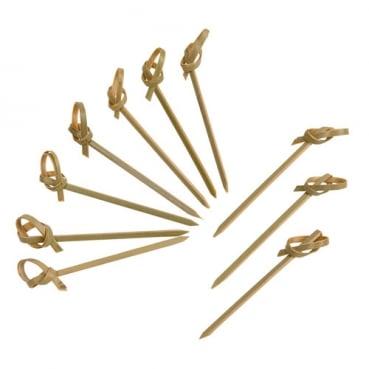 24 Bambus-Knoten Spießchen, 60 mm