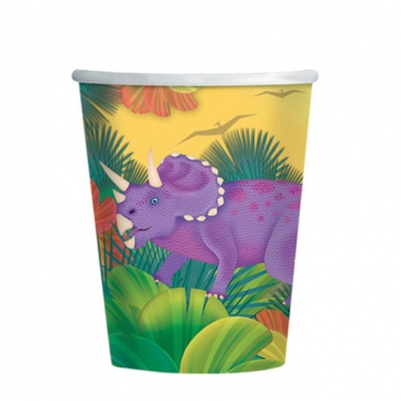 8er Pack Becher Dinos