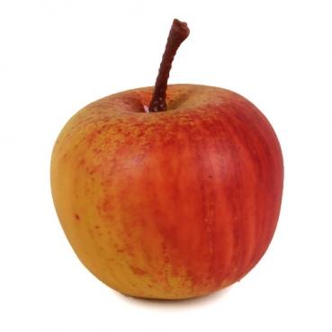 Deko Herbst Apfel in Gelb-Rot, 42 mm