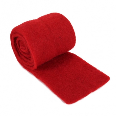 2 Meter Filzstoff in Rot, 10 cm