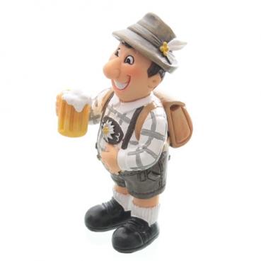 Oktoberfest Trachten Mann mit Bier, 95 mm