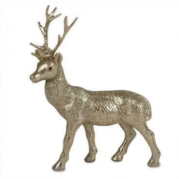 Großer Glitzer Hirsch in Gold, Weihnachten, 27 cm
