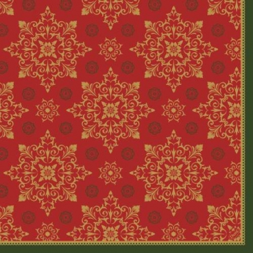 Duni Dunilin Servietten Xmas Deco Red, 48 x 48 cm