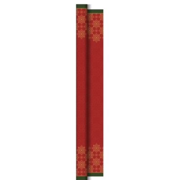 25 Meter Duni Dunicel Tischdeckenrolle Xmas Deco Red