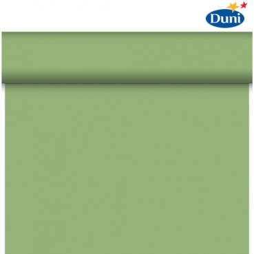 24 Meter Rolle Duni Dunicel Tischläufer, Tête-à-Tête in Herbal Green, 40 cm Breite