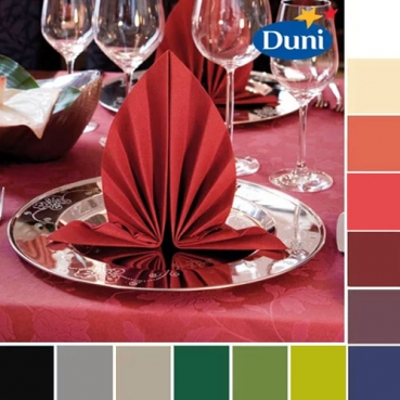 45er Pack Duni Servietten Dunilin, 40 x 40 cm in 13 Farben