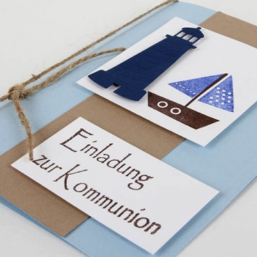 tischkarte kommunion konfirmation christlicher fisch. Black Bedroom Furniture Sets. Home Design Ideas