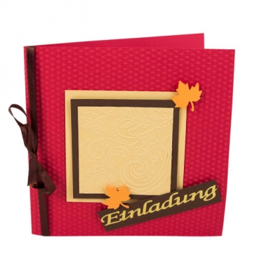 Einladungskarte Herbst In Rot/Braun