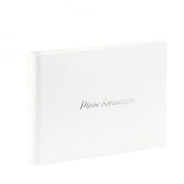 Gästebuch, Fotoalbum -Meine Kommunion- in Weiß metallic