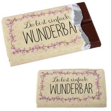 Gastgeschenk Schokolade -Du bist einfach wunderbar-