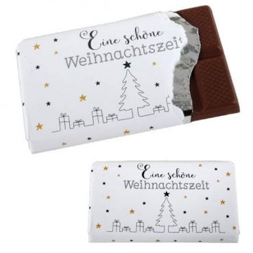 Gastgeschenk Schokolade -Eine schöne Weihnachtszeit-