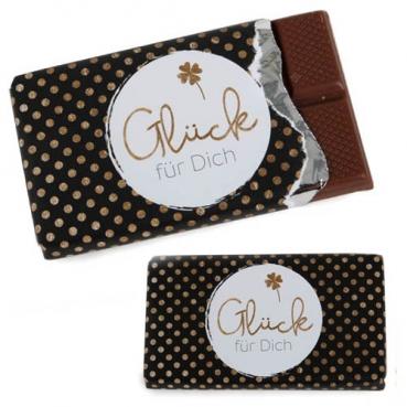 Gastgeschenk Schokolade -Glück für Dich-