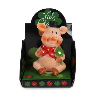 Gastgeschenk Silvester, Glücksschweinchen im Display, Nr. 6