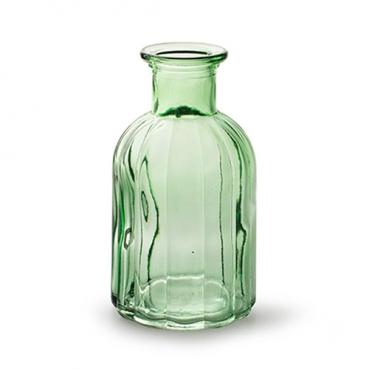 Glas Flaschen Vase Vintage, Norinne in Grün, 14 cm