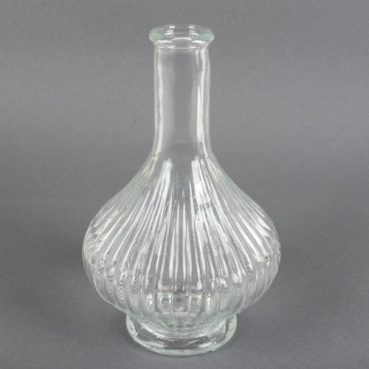 Glas Flaschen Vase Sofiya, Vintage, 20 cm