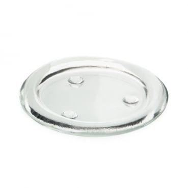 Glas Kerzenteller rund, 11,4 cm