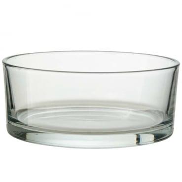 Glasschale, rund, klar, 19 cm