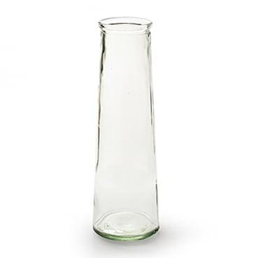Glas Vase konisch, schmal, 25 cm