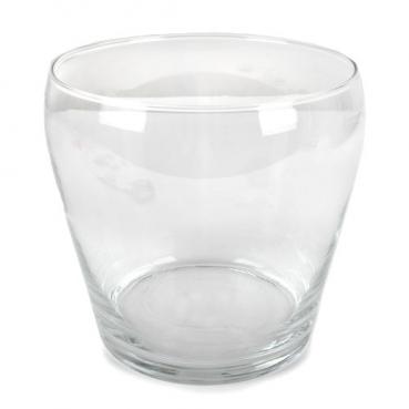 Großes Glas Windlicht Layla, Vase, Dekoglas, klar, 18 cm
