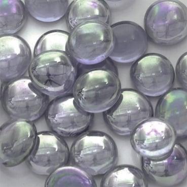 Glaslinsen zur Tischdeko in Dunkellila mit Perlmuttglanz