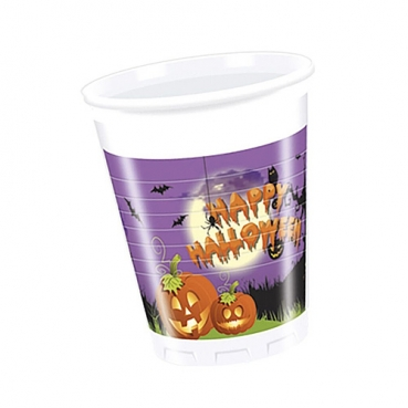 8 Becher Happy Halloween