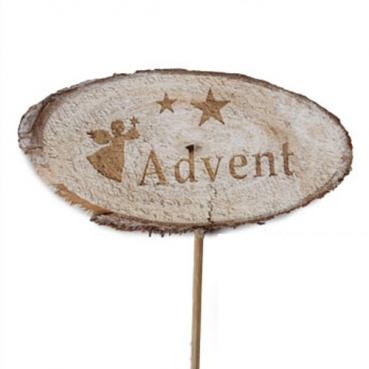 Holz Scheibenstecker -Advent-, 29 cm
