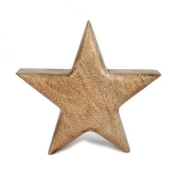 Holz Stern, Weihnachten, 14 cm