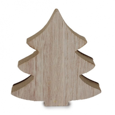 Holz Tannenbaum Winter Harmonie Design In Hellbraun Weiss 11 Cm